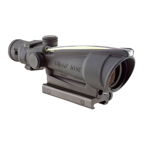 Trijicon TA11-D-100292 ACOG 3.5x35mm Dual Illuminatedx 40mm, Amber Chevron M193 Reticle with TA51 Mount, Black