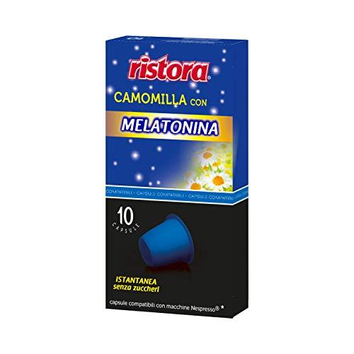 60 CAPSULE SOLUBILI COMPATIBILI NESPRESSO RISTORA (Camomilla con Melatonina)