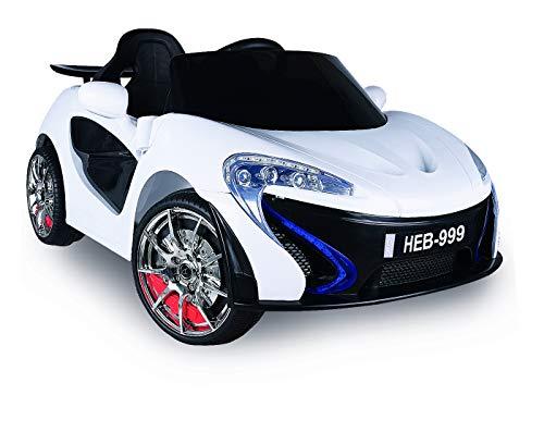 Biemme Auto Elettrica per Bambini Daytona 12 Volt con Radiocomando Genitori 1133 / B Colore Bianco