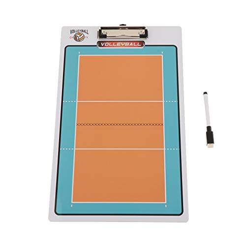 B Blesiya Fussball Basketball Coaching Board Strategie Board Handball American Football Magnet Taktikbrett und Magnettafel - Volleyball