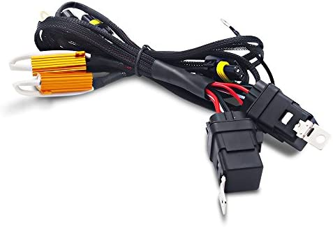 Autolizer Heavy Duty Universal Single Beam Dual Wiring Relay HID Harness with 50W 6OHM Resistor product image
