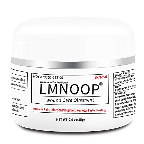 Bed Sore Cream, Organic Bedsore Ointment, Bed Sores Treatment, Fast Wound Healing & 24 hr Infection Protection Wound Care Ointment for BedSores, Pressure Sores, Diabetic & Venous Ulcers by LMNOOP