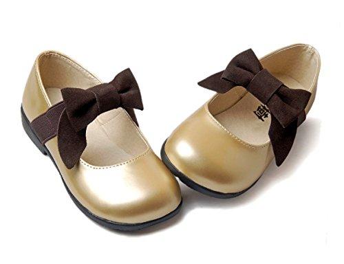 [Soufflesong] (ピュアシャン)pur champ キッズ ファッション 【 キッズ セレモニーシューズ シャンパンゴールド 】フォーマル靴(女の子用) キッズ フォーマルシューズ 発表会 結婚式 卒園式 卒業式 入学式 (14.5cm(実寸13~14.5cm))