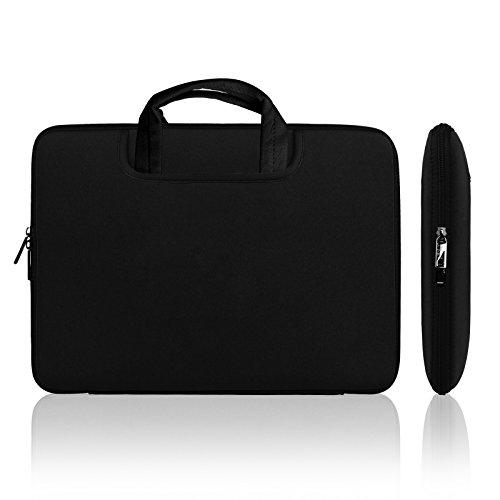 Lavievert Weiche & Wasserabweisende Neopren Laptoptasche , Schutzhülle , Tasche für 13 Zoll MacBook Air / Pro / Pro Retina & 13-13,3 Zoll Laptop / Notebook / Ultrabook mit dem Reißverschluss ( Schwarz )