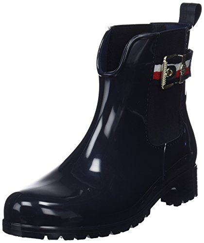 Tommy Hilfiger Damen Corporate Belt RAIN Boot Gummistiefel, Blau (Midnight 403), 37 EU