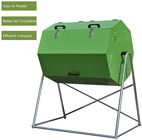 Lowest Prices! CRZJ Outdoor Compost Bins, Household Large Capacity Kitchen Waste Compost Bin, Organi...