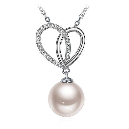 J.Rosée Pendientes Mujer, Pendientes Perlas Plata de Ley 925 Clásico Joyería para, Joyas Regalos Originales