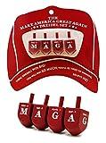 MAGA Dreidel Dreidel Make America Great Again - Hanukkah Draydel (Set of 4)
