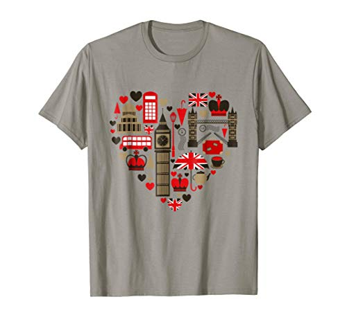 Vintage London Tshirt I Love Travel Wanderlust Union...