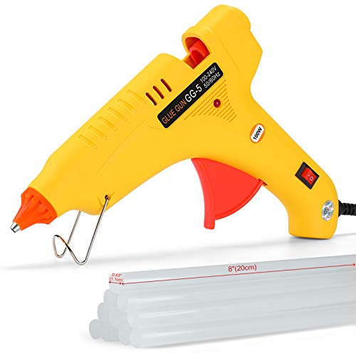 Tancci Hot Glue Gun, 100W Full Size Hot Glue Gun with 10 Pcs Premium Glue Sticks (0.43