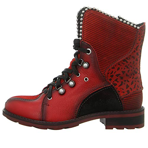 Maciejka Damen Stiefeletten Boot in Rot-Schwarz 03623-08/00-3 rot 738309