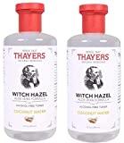 Thayers Alcohol-Free Coconut Water Witch Hazel Toner with Aloe and Grapefruit (Pack of 2), 12 Oz Each