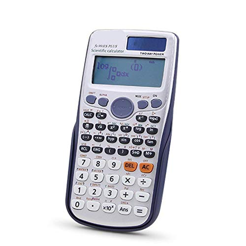 Jiyi Scientific Calculator, Two-Line Scientific Calculator, Full-Featured Function Calculator, Written Display Solar Ultra-Light Engineering Calculator For Schools And Universities