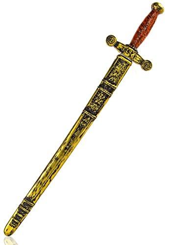 buy'n'get Ritter Plastik Schwert Ritterschwert mit Schwertscheide ca 75cm lang
