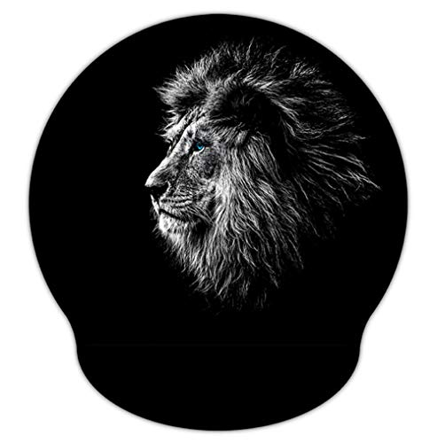 RICHEN Memory Foam Mouse Pad with Wrist Support,Ergonomic Mouse Pad with Wrist Rest,Non-Slip Rubber Base for Computer Laptop & Mac,Lightweight Rest for Home,Office & Travel (Lion)