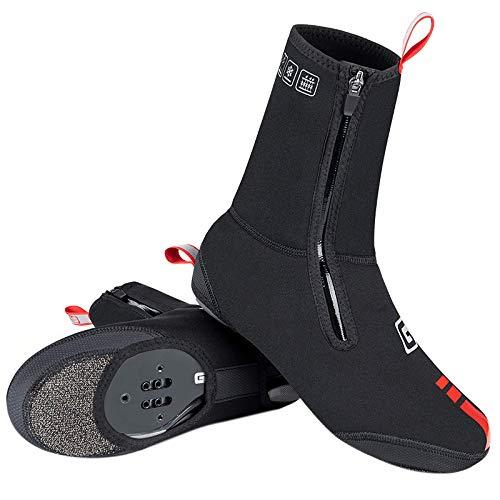 PDVCB - Cubrezapatillas térmicas para ciclismo, protección impermeable, diseño reflectante para zapatos normales, bicicleta de carretera, bicicleta, ciclismo, zapatos, accesorios, color negro, L