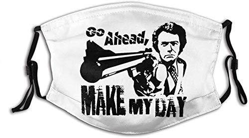 ADICOM Unisex Nasenmund Anti Staubschutz Schmutzig Harry Machen Sie Meinen Tag Clint Eastwood Filme Verstellbare Mundschutz