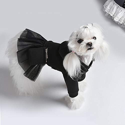 XinC Haustier-Kleidung Katze und Hund Prinzessin Kleid Teddybär Koki WeisehaustierHoodie kleine und mittlere Hunde Hoher Komfort, Etwas herstellen Haustiere Der Fokus,L