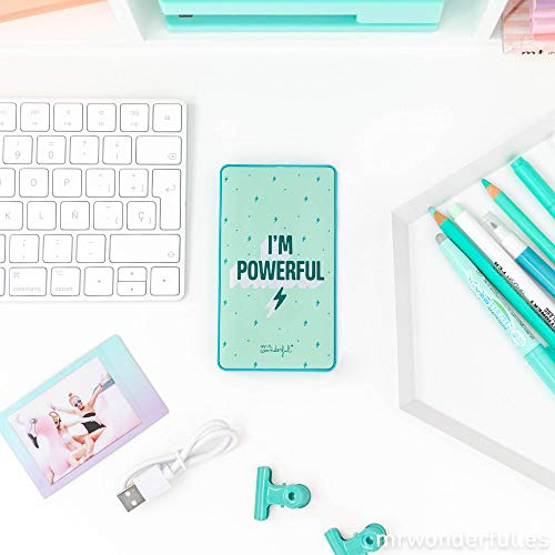 Mr. Wonderful Batería Externa para moviles, Powerbanks 6000mAh, I'm Powerful