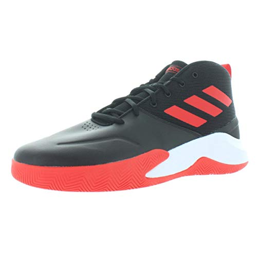 adidas Men's OwnTheGame Wide Basketball Shoe, black/active Red/White, 9.5 W US
