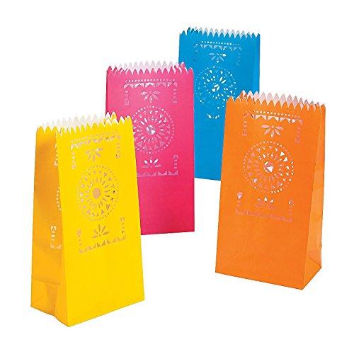 3 Pack of 12 Fun Express Fiesta Luminary Bags bundled by Maven Gifts