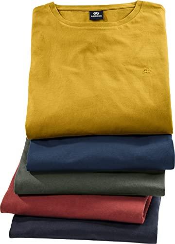 LERROS 5er Pack T-Shirts Kurzarm, Herren T-Shirt Set in 5 lässigen Farben, 100% Reine Baumwolle, hautsympathische Oberbekleidung für Männer, ideal für Freizeit & Beruf, Gr. M - 3XL