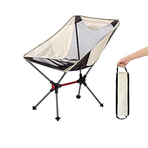 Nanna Sillas de Camping Silla Plegable compacta con Mochila portátiles for Viajes Campo al Aire Libre Picnic en la Playa Senderismo Festivales de Camping Jardín Caravan (Color : Khaki)