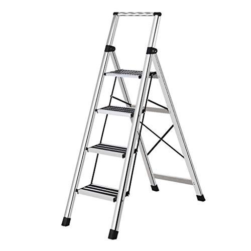 LRZLZY 3-Step / 4-Step-Leiter aus Aluminium, zusammenklappbaren tragbaren Schritt Hocker, Küchen Schritt mit Anti-Rutsch-Stufen, Haushaltsmehrzweckstehleitern (Size : 3-Step)