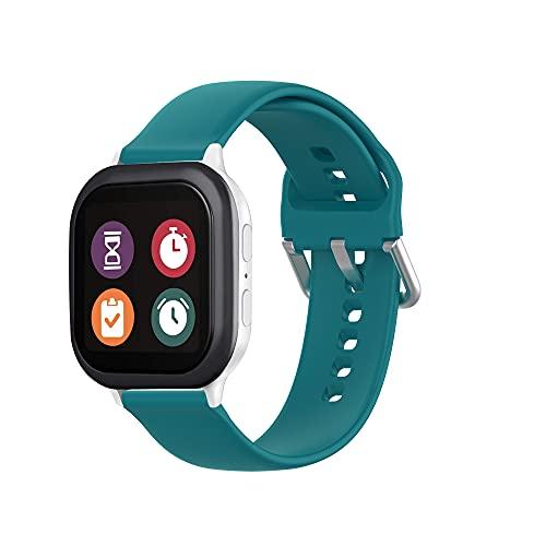 Correa de repuesto de correa deportiva compatible con Gizmo Watch 2/1, correas de reloj de silicona suave duraderas compatibles con correa Verizon Gizmo para niños - verde oscuro
