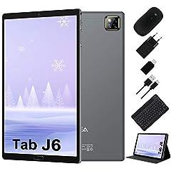 Idea Regalo - Tablet 10 Pollici Android 10.0 - RAM 4GB | ROM 64GB - WIFI -Octa core (Certificazione GOOGLE GMS) -JUSYEA Tablets - 6000mAh Batteria — Mouse | Tastiera e Altro (Grigio)