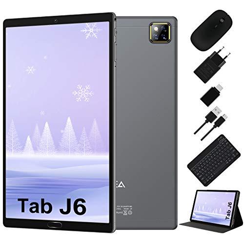 Tablet 10 Pollici Android 10.0 - RAM 4GB | ROM 64GB - WIFI -Octa core (Certificazione GOOGLE GMS) -JUSYEA Tablets - 6000mAh Batteria — Mouse | Tastiera e Altro (Grigio)