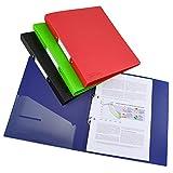 Rapesco 1658 Germ-Savvy Antibacteriano, Carpeta de Anillas A4, 2 Anillas, en Polipropileno con Lomo de 35 mm, Colores Surtidos, Paquete con 4 Carpetas