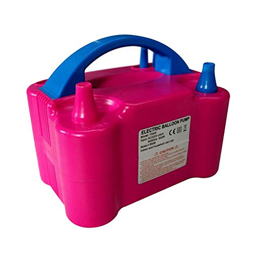 Zoloyo Bomba de globo eléctrica soplador portátil de doble boquilla inflado para...