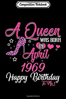 Composition Notebook: Womens 60th Birthday Queen April 1959 Happy Birthday to Me Journal/Notebook Blank Lined Ruled 6x9 100 Pages