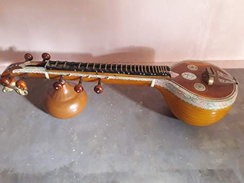 Saraswathi Veena Hand Made - Tanjore Type Joint Veena - Veena Box included