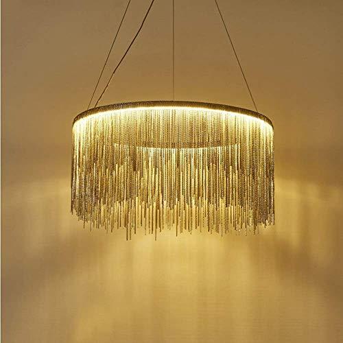 Kroonluchter goed gemaakt modern minimalistisch grote Air Flow Su aluminium ketting LED kroonluchter lampen en lantaarns slaapkamer eetkamer study gang veranda goud afmeting 50 cm * 32 cm mooi