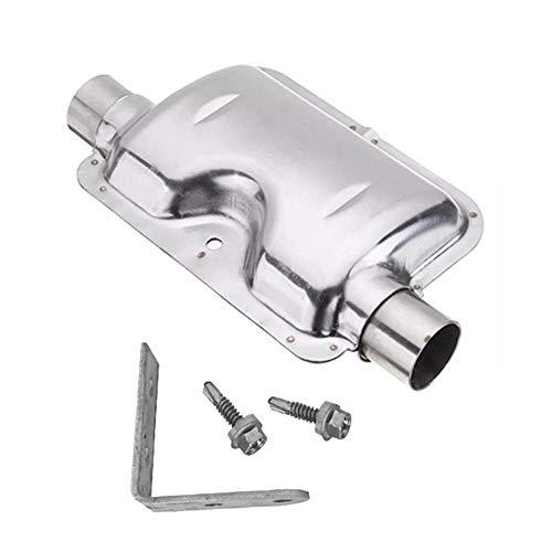 SmallPocket 120cm Standheizung Edelstahl Auspuff Schalldämpfer Auspuffrohr Zusatzheizung Kit Autoheizung Zubehör
