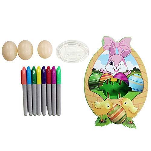 AXsmyi Kit de decoración de Huevos de Pascua, máquina de Pintar Huevos de Bricolaje, máquina de Pintar Huevos, Juguete con luz y música (Sin música Ligera)