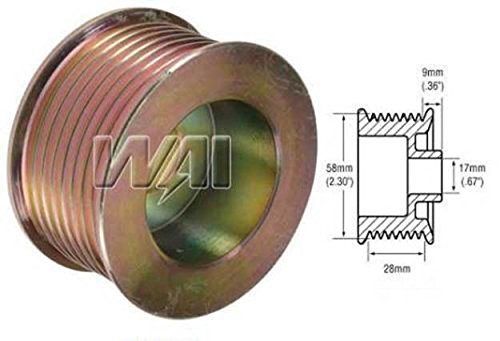 OVERDRIVE 8 GROOVE PULLEY Gain output @ idle in some apps FORD ALTERNATOR 6g 3g