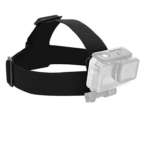 Camera Headband, Adjustable Elastic Wearing Headband Head Strap Belt Mount Used for Action Sports Capture Best Moments Camera Accessory