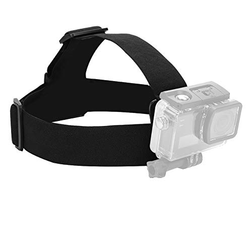 Camera Headband, Adjustable Elastic Wearing Headband Head Strap Belt Mount Used for Action Sports Capture Best Moments Camera Accessory