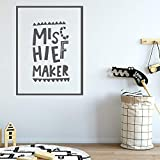 Pegatinas de pared de broma creativa para habitación de niños, decoración de pared de vinilo, decoración de habitación, dormitorio, pegatinas de pared Mural A7 XL 58x77cm