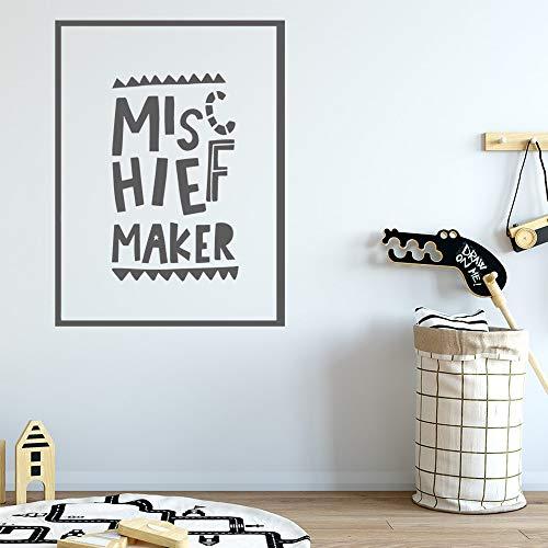 Pegatinas de pared de broma creativa, decoración de pared de vinilo para habitación de niños, decoración de dormitorio, Mural, pegatinas de pared A1 XL 58x77cm