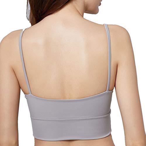 Cwang Sujetador Tipo Camiseta sin Aros con Relleno Ligero Suave para Mujer,Morado Claro,M