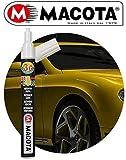 MACOTA AUTOCOLOR Pen Pennarello RITOCCO Vernice RIEMPITIVO Auto Moto RIPARA CARROZZERIA RIMUOVE Graffi Professionale Doppio Tratto Fai da Te 10 ml (Grigio Metallizzato 87060)