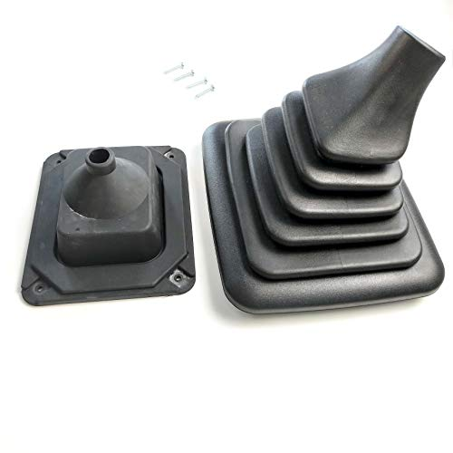 JSD RB001 Shift Boot for Ford F150 F250 F350 F5TZ7277BA Manual Transmission Shifter Boot with Mounting Bracket for Ford Bronco