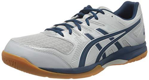 ASICS Mens Gel-Rocket 9 Volleyball Shoe, Glacier Grey/Mako Blue,42 EU