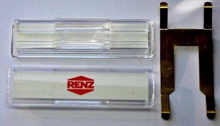 RENZ Namenschild mit Feder