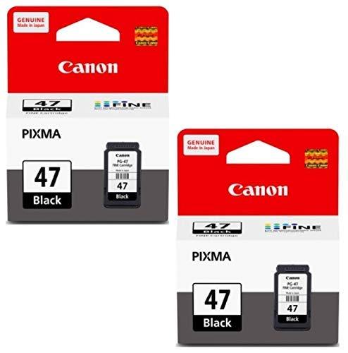 Canon Combo 47 Twin Ink Cartridge [Set of 2] Compatible with Pixma E400 E410 E417 E460 E470 E477 E480 E3170 E3177 Printers