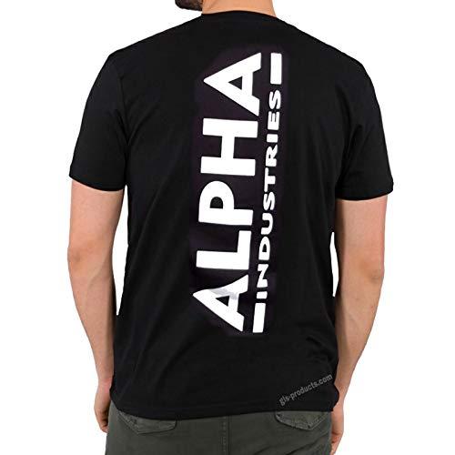 ALPHA INDUSTRIES Backprint T 128507 Wirbelsäulendruck, Größe:XL, Farbe:Black